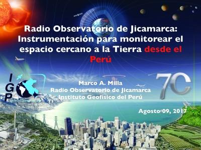 Radio Observatorio de Jicamarca: Instrumentación para monitorear el ...